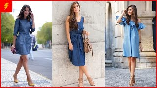 A Denim Dress Is A Must Have Dress For The Season