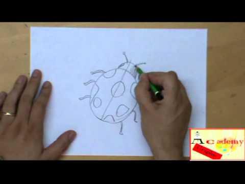 Disegno coccinella da colorare - Disegni da colorare