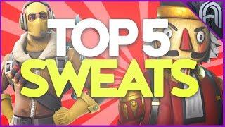 Top 5 Sweatiest Skins in Fortnite Battle Royale!!!