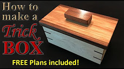 Woodworking: How to make an awesome trick box - FREE plans!