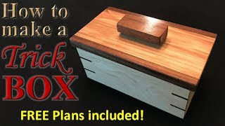 In this video I demonstrate how to make an awesome trick box. Once the lid goes on, it