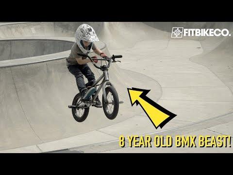 Five Tricks with 8-year-old BMX Rider Caiden Cernius