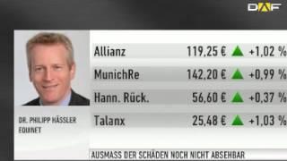 Flutwelle: Allianz, Munich Re, Hannover Rück und Talanx im(, 2013-06-04T15:00:48.000Z)
