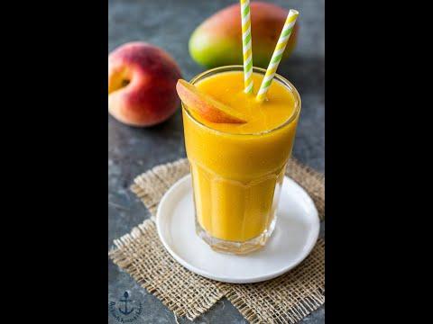 How To Make Mango Peach Smoothie (SIMPLE) Owen Cheb