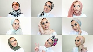 20 SIMPLE HIJAB STYLES! - TUTORIAL