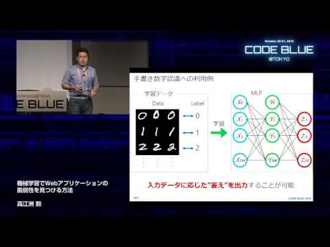 [CB16] Method of detecting vulnerability in WebApps using Machine Learning by Isao Takaesu