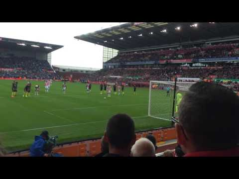 BOJAN goal Stoke 1-4 Manchester city fan view