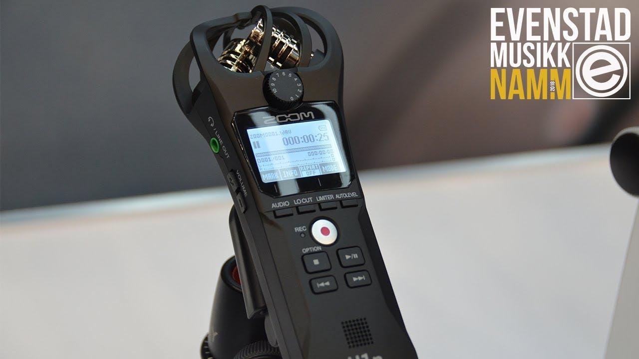 Namm 2018 Zoom H1n Handy Recorder Youtube