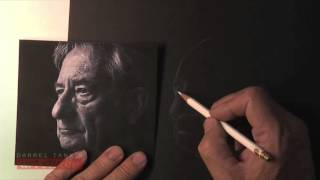 Draw a Realistic Portrait With White Pencils On Black Paper (White On Black #1)