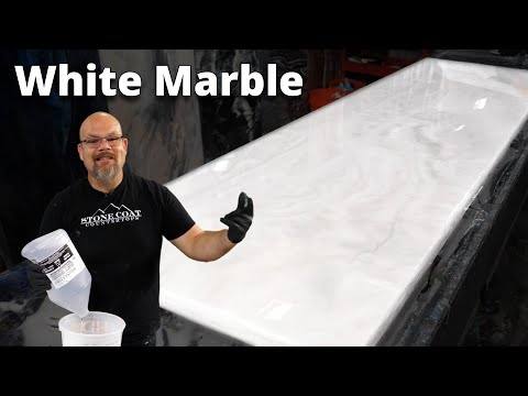 How to make White Exotic Marble with Epoxy | Stone Coat Epoxy