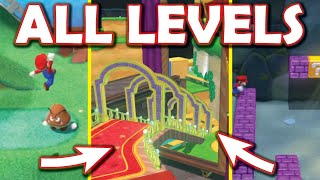 Overlapping ALL LEVELS TOGETHER in Super Mario 3D World [Super Mario 3D World mod] World 1