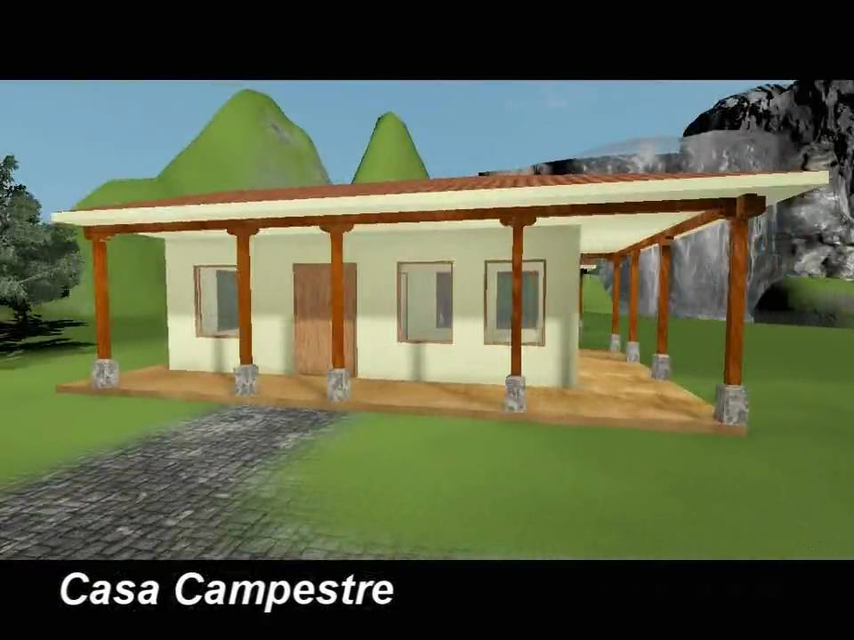Visualizacion arquitectonica casa campestre exteriores for Planos de casas campestres gratis