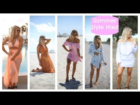 Huge ASOS, Revolve, Topshop Try On Lookbook Summer Holiday Fashion Haul In Miami & Florida | EmTalks
