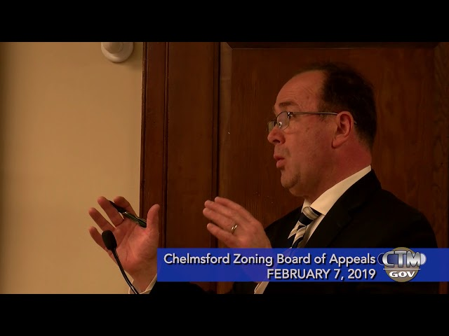 Chelmsford Zoning Board of Appeals Feb. 7, 2019