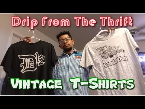 d923f7c6de9 Vintage T-Shirts Drip From The Thrift (What I Sell On Depop) - YouTube