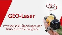 Übertragen der Bauachse – Verschalung ausrichten - Fluchten mit dem Rotations-Laser