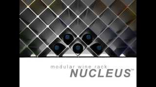 Wine Rack Nucleus. Modular Minimalist Design In Aluminium By Esthys.