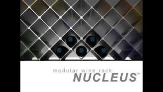 Wine rack Nucleus. Modular minimalist design in aluminium by Esthys.