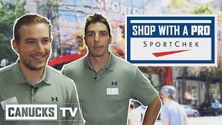 Alex Burrows and Sven Baertschi – Shop With a Pro