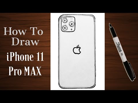 how-to-draw-iphone-11-pro-max- -easy-step-by-step-tutorial-on-the-latest-smart-phone-w/dimensions