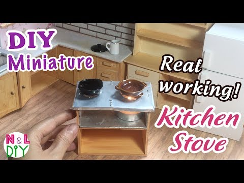 DIY Miniature Real Working Kitchen Stove for Dollhouse | How to make a Candle Stove for Dollhouse