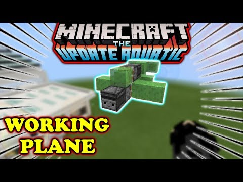 How to make a simple airplane in minecraft pe