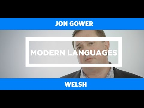 MODERN LANGUAGES: Welsh - Jon Gower