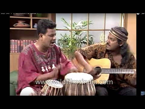 Asheem Chakravarty and Rahul from Indian Ocean band on a TV show
