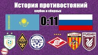 Казахстан Россия История противостояний клубов и сборных