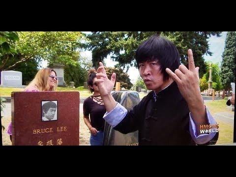 Wang Fei Hong Visiting BRUCE LEE'S Grave Site in Seattle, Vaj Feb Hooj Mus Saib BRUCE LEE lub Ntxa