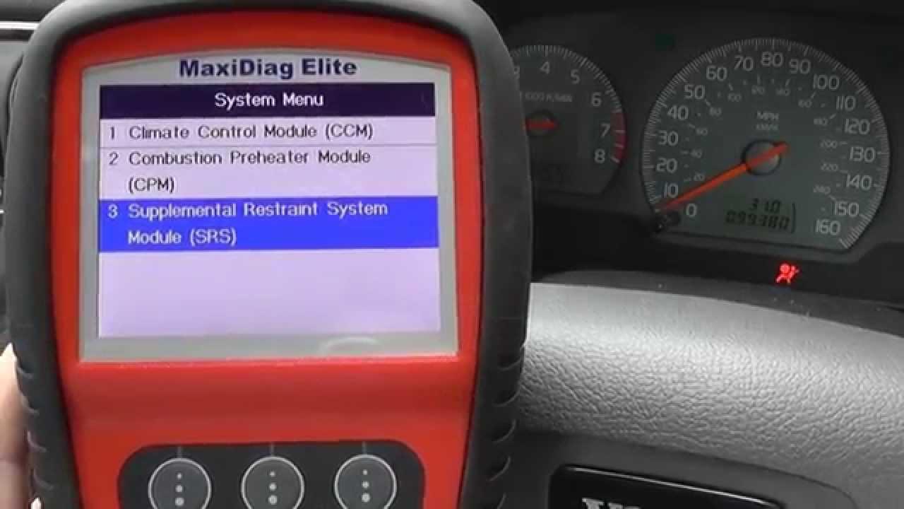 SRS airbag system servicing