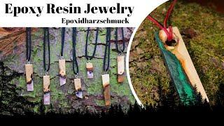Epoxy resin jewelry - Epoxidharz Schmuck