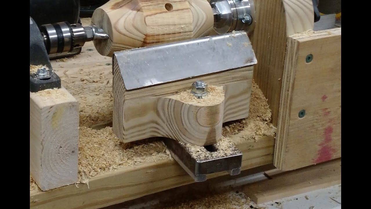 Lathe Tool Rest - Homemade From Scraps