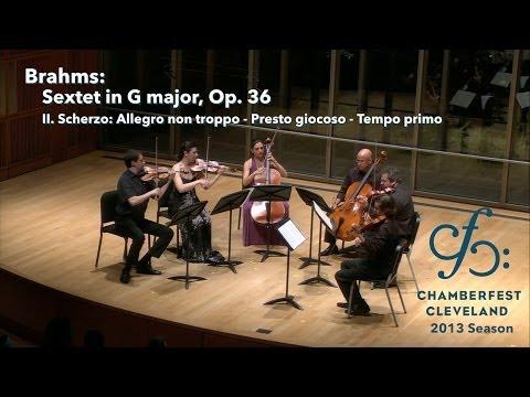 Brahms Sextet in G major, Op. 36 - II - ChamberFest Cleveland (2013)