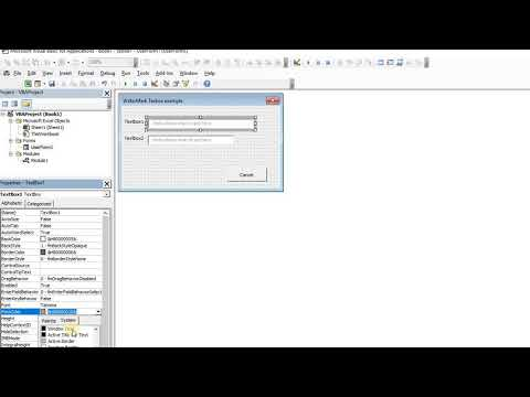 Excel VBA Forms Create Watermark Textboxes