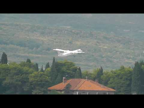 Croatia Airlines Bombardier Dash 8-Q400 take-off from Split Airport