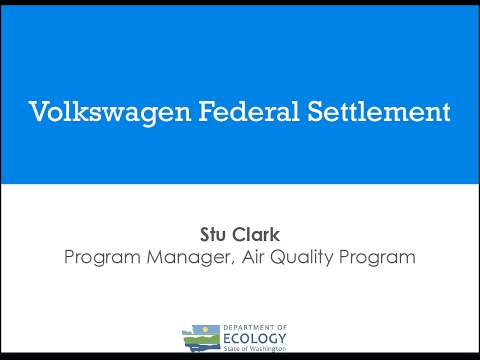 Volkswagen Federal Settlement Webinar, Washington, Feb. 2, 2017