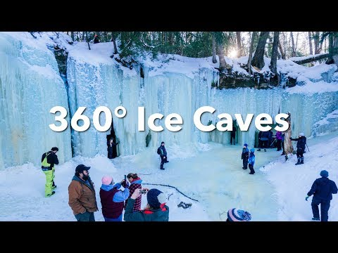 Tour of Eben Ice Caves in 360 at MI's Upper Peninsula | Pure Michigan