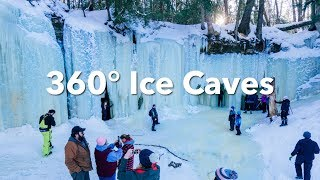 Tour of Eben Ice Caves in 360 at MI's Upper Peninsula | Pure Michigan thumbnail