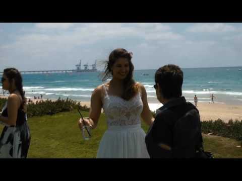 HIS WEDDING ROTEM WITH YOAV  CAESAREA ISRAEL