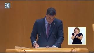 """Pedro Sánchez usa el Senado para """"lamentar profundamente"""" el suicidio de un """"preso de"""