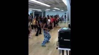 Dance fitness with Allison Santana-Belly Dancer (Akon)