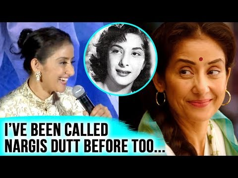 Manisha Koirala On Playing Sanjay Dutt's Mother Nargis Dutt In Sanju  SANJU  Launch