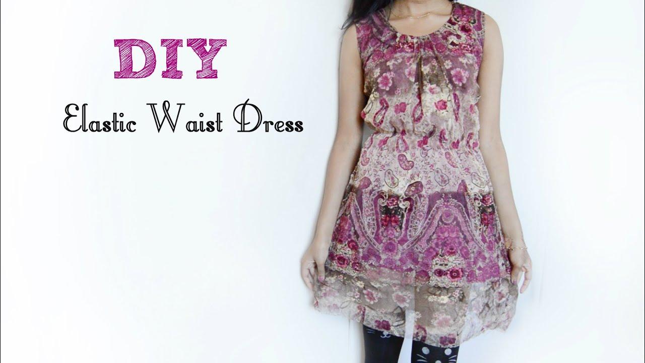 51d0eee1c0b DIY Simple Elastic Waist Dress (Hippie Inspired) - YouTube