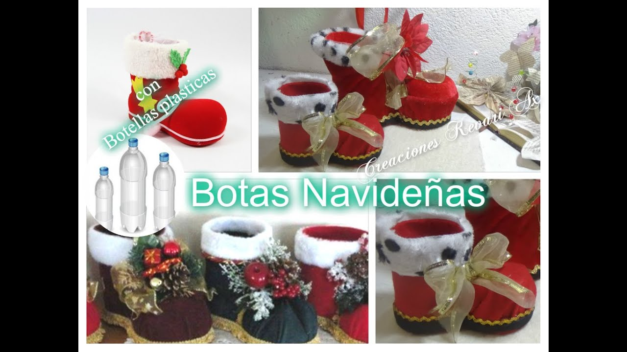 botas navideas con botellas plasticas diy material boots out of plastic bottle youtube