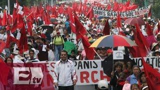 Caos vehicular por la marcha de Antorcha Campesina / Vianey Esquinca