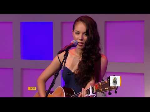Kina Grannis sings Valentine live on TV