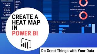 إنشاء خريطة الحرارة في السلطة BI