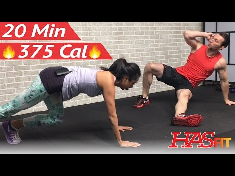 20 Minute HIIT Workout for Fat Loss - Home Cardio, Strength Training, Cardio Kickboxing, Abs Workout