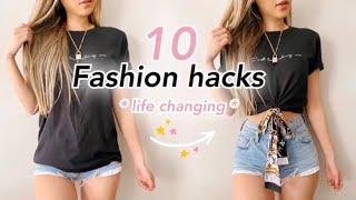 10 Fashion hacks that will CHANGE YOUR LIFE   Quick & Easy No Sewing!